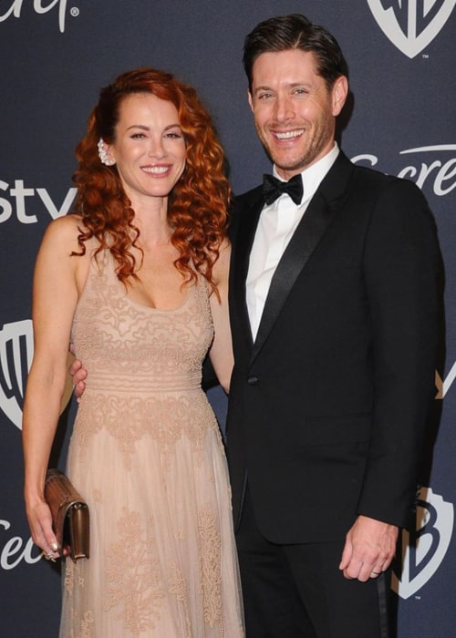 Danneel Ackles and Jensen Ackles, as seen in January 2020, on the sidelines of the Golden Globes Awards ceremony