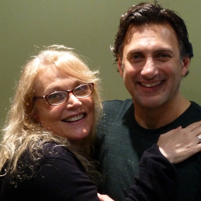 Daphne Ashbrook with Matthew Brenher at the recording of Doctor Who The Companion Chronicles - The Second Doctor Volume 2 in June 2018