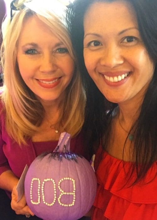 Deb Carson (Left) as seen while smiling in a selfie along with Bernadette Balagtas Batts in October 2017