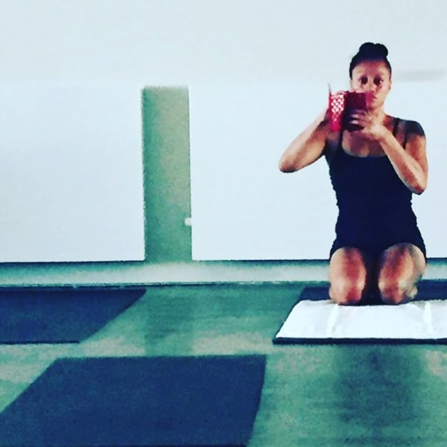 Emily Williams in February 2016 finding peace and serenity in Yoga and fitness
