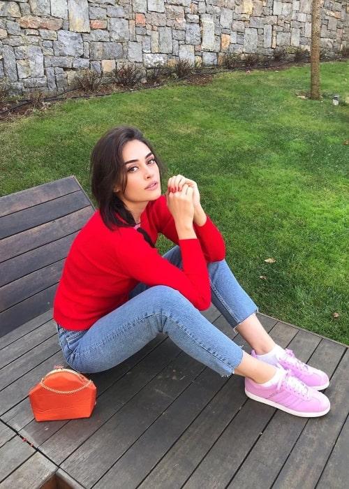 Esra Bilgiç as seen in a picture taken in April 2020