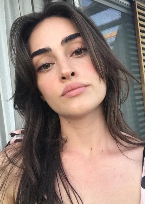 Esra Bilgiç as seen in a selfie taken July 2020