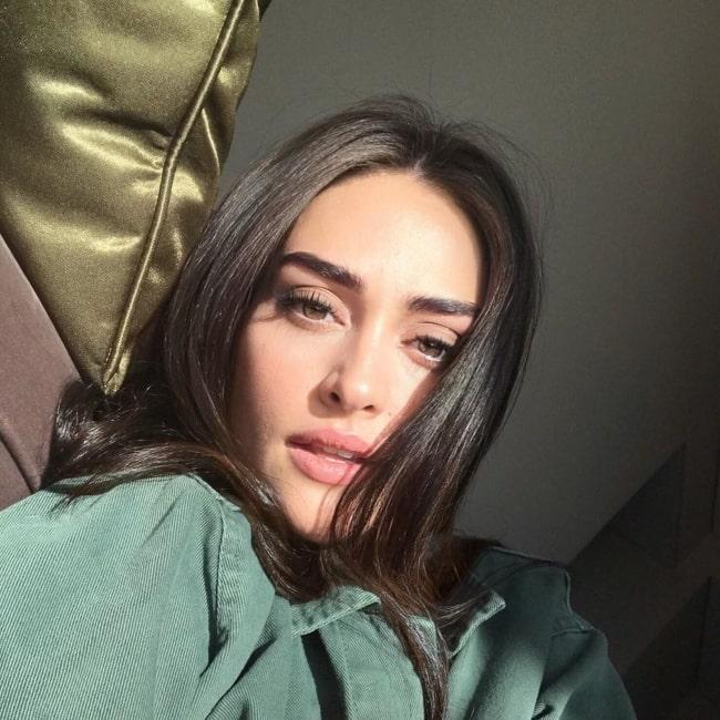 Esra Bilgiç as seen in a selfie taken in May 2020