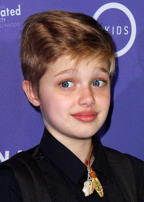 Famous celebrity kid Shiloh Jolie-Pitt
