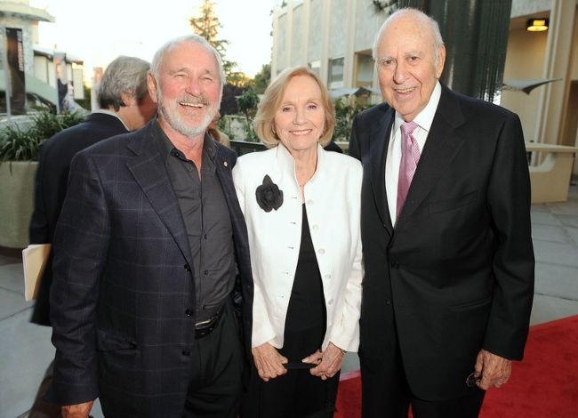 (From left to right) Norman Jewison, Eve Marie Saint, and Carl Reiner as seen together in 2009