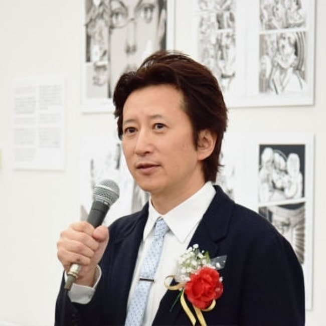 Hirohiko Araki as seen in a photograph that was taken in 2013 at the Japan Media Arts Festival