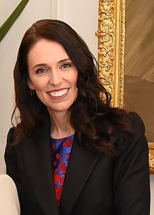 Jacinda Ardern seen at her swearing-in ceremony in October 2017