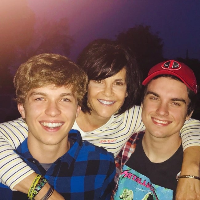 Jacob Hopkins as seen in a picture taken with his brother Gerad Hopkins and mother in May 2019