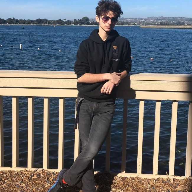 Jax Malcolm as seen while posing for a picture in San Diego, California in January 2020