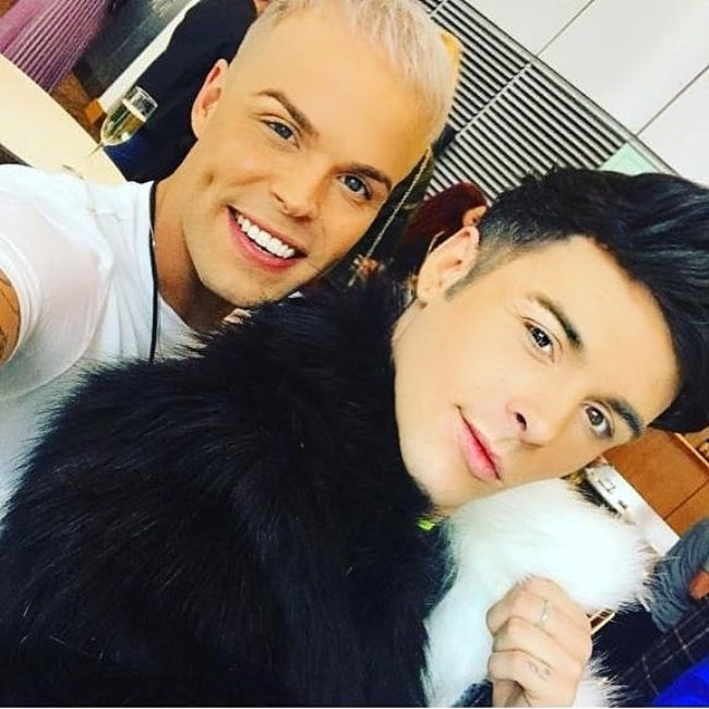 Jaymi Hensley as seen in a selfie taken with his partner Olly Marmon in May 2019