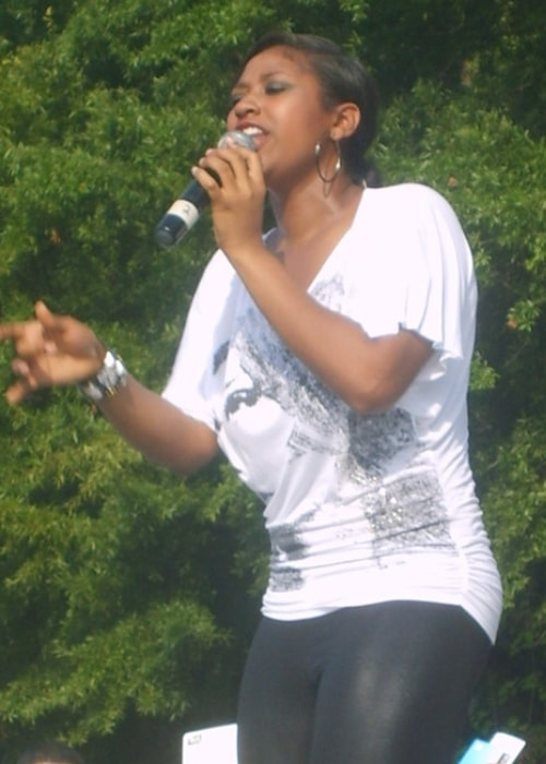 Jazmine Sullivan as seen while performing live at a concert in Columbia, South Carolina in 2008