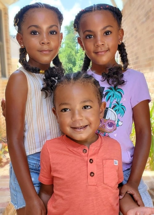Jersey Tayo McClure as seen in a picture taken with his sisters Ava and Alexis in July 2020