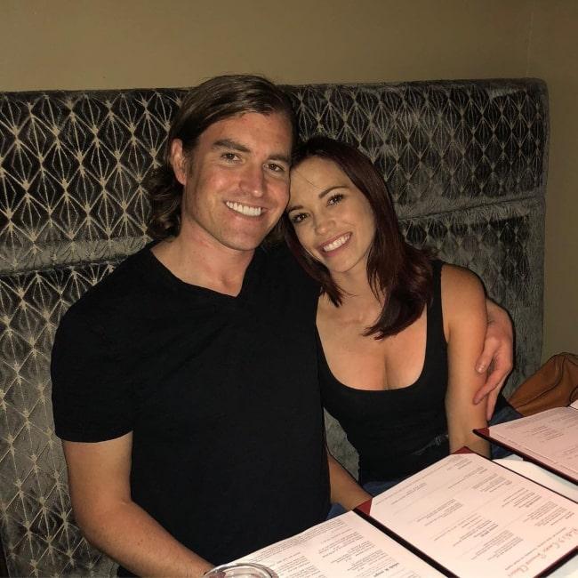 Jessica Sutta with her partner in August 2018