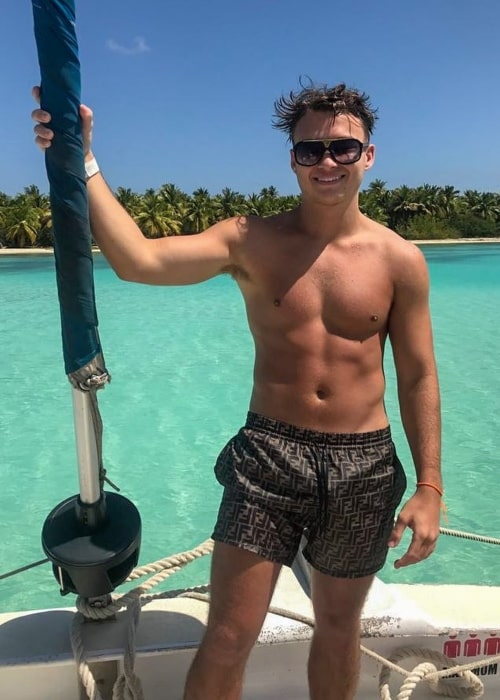 Johnny Carey as seen in a shirtless picture that was taken in Saona Island , Dominican Republic in February 2020