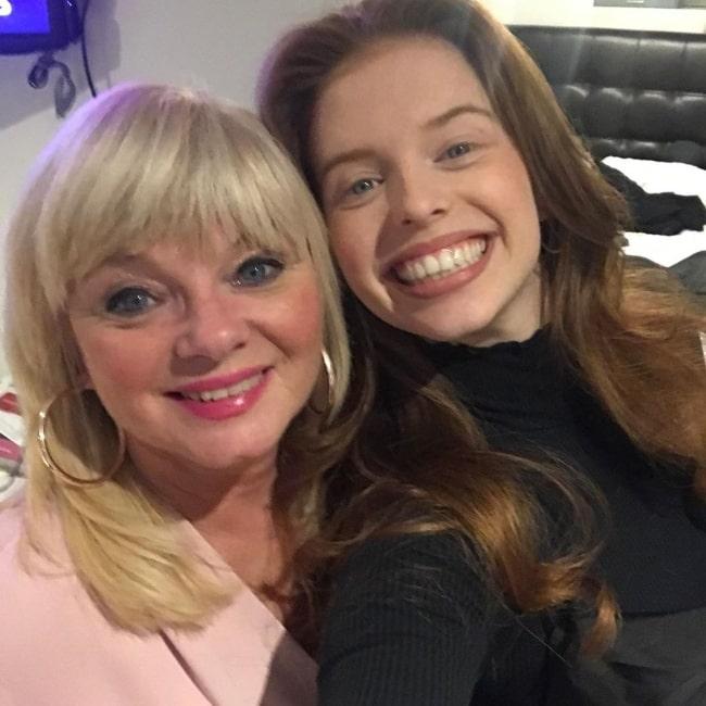 Jordan Clark in a selfie taken with her mother in May 2020