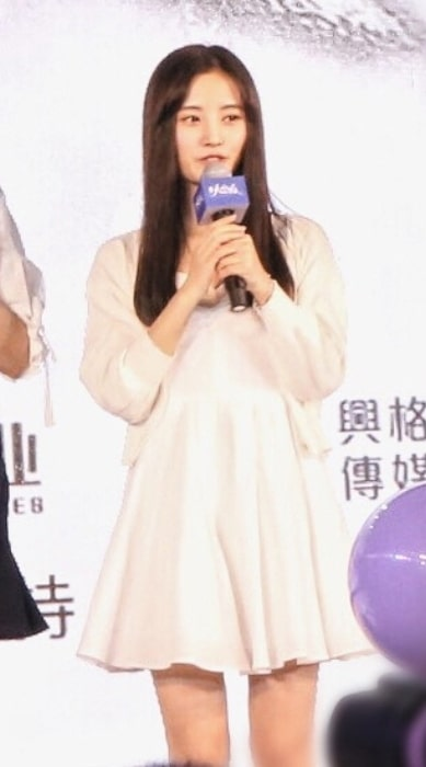 Ju Jingyi as seen during the press conference for 'Novoland The Castle in the Sky' in September 2016