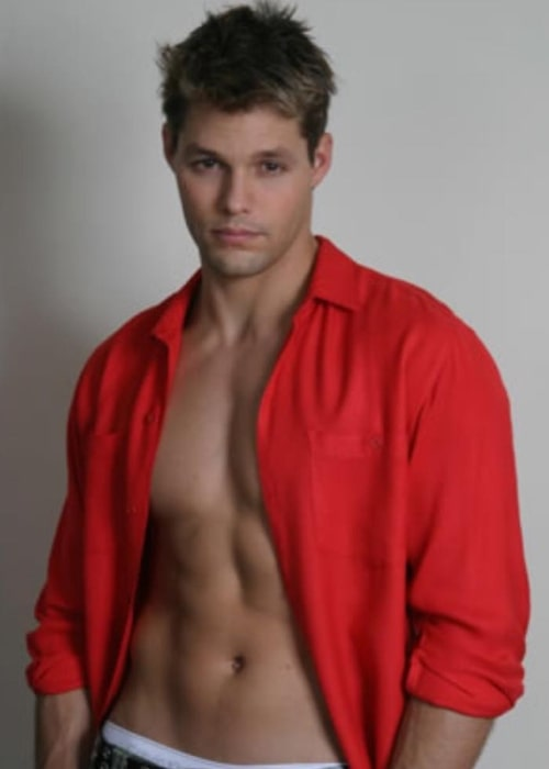 Justin Bruening as seen in a picture taken during his younger years