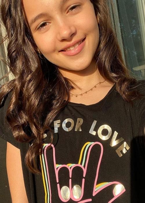 Kaylin Hayman as seen in a selfie that was taken in May 2020