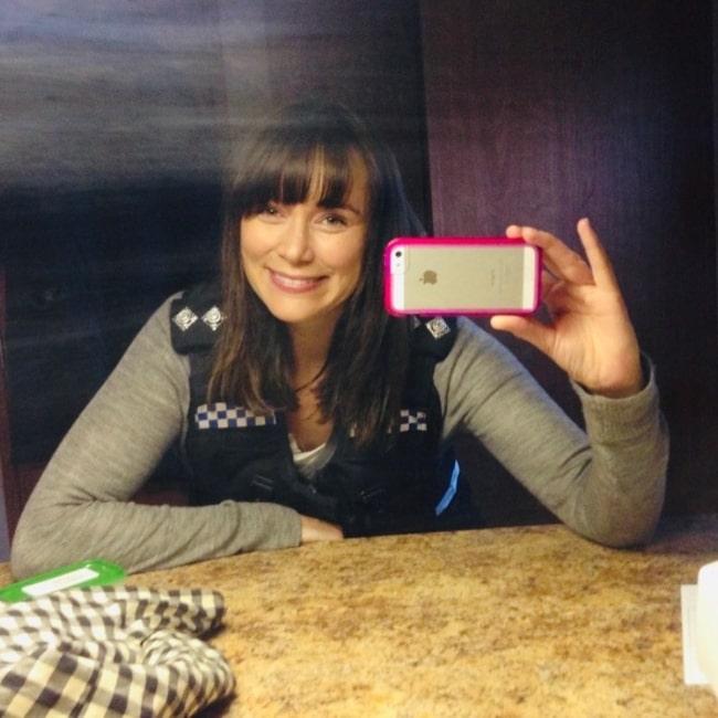Keeley Hawes sharing her selfie in February 2020