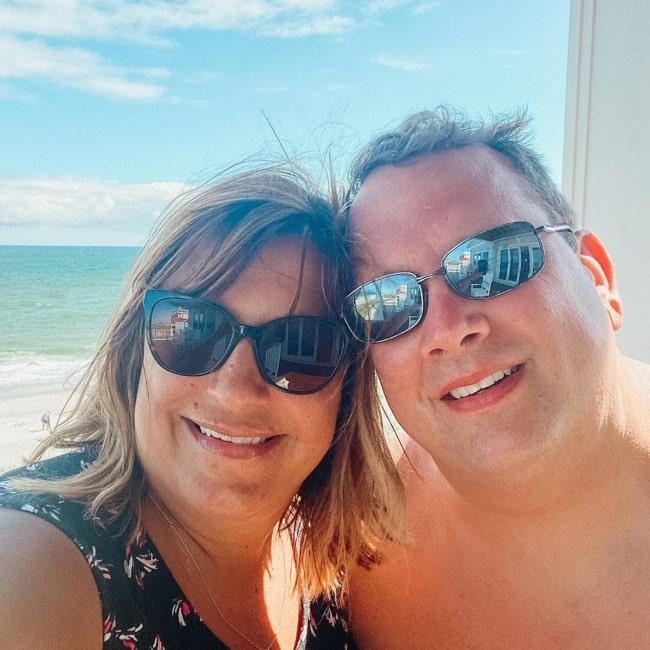 Ken Reese as seen in a selfie taken with his wife Candi in June 2020