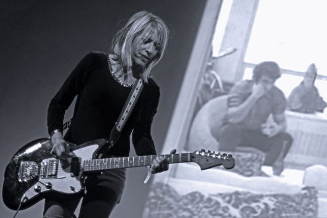 Kim Gordon performing at the Supersonic festival in 2012