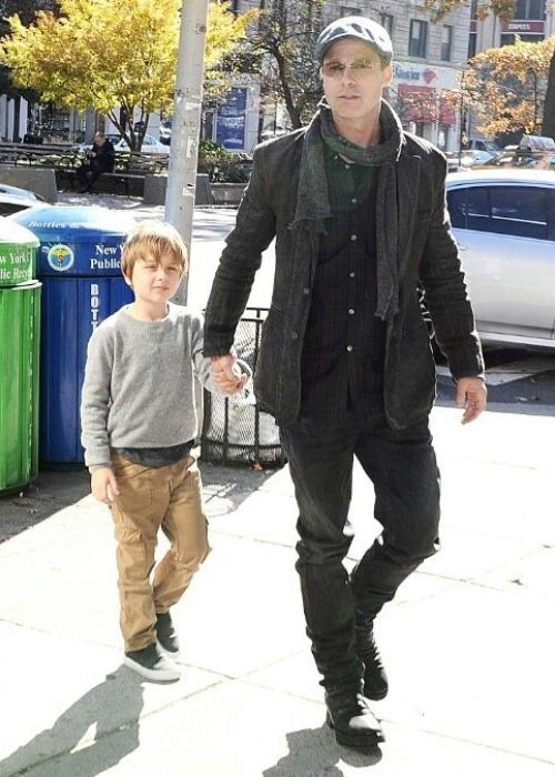 Knox Jolie-Pitt as seen with his dad Brad Pitt