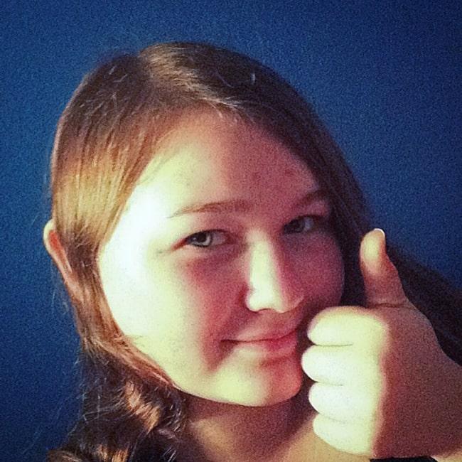 Kyla Rae Kowalewski as seen in a selfie taken in November 2017