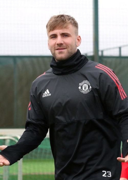 Luke Shaw as seen in an Instagram Post in November 2017