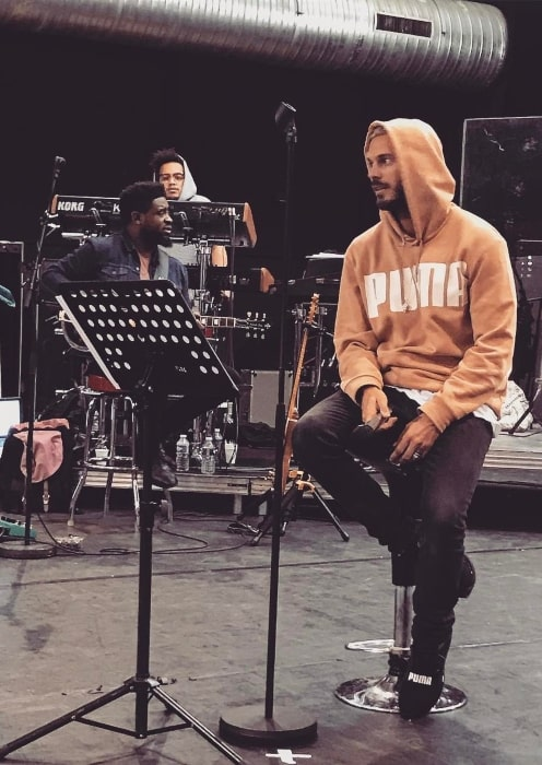 M. Pokora during a rehearsal in February 2017