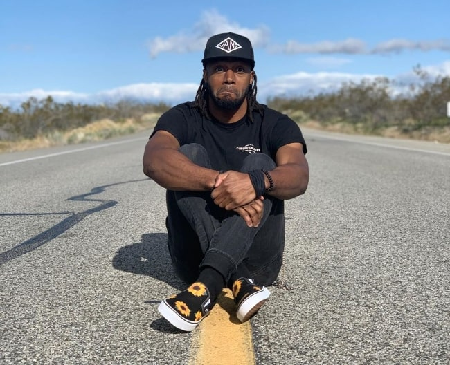 Marlon Webb as seen while posing for the camera in April 2020