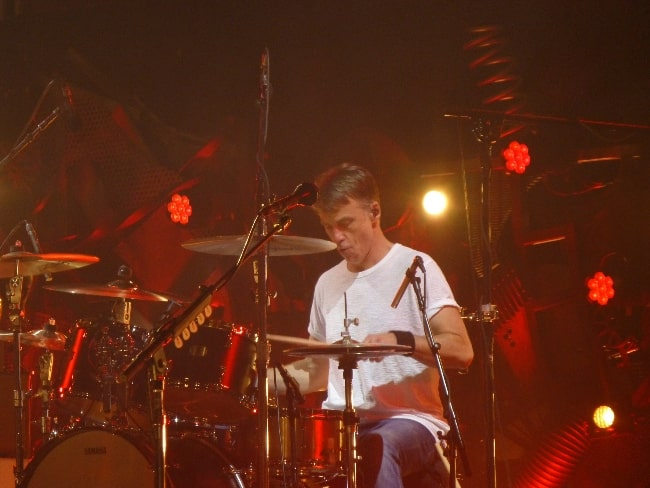 Matt Cameron performing with Pearl Jam in Prague in July 2018