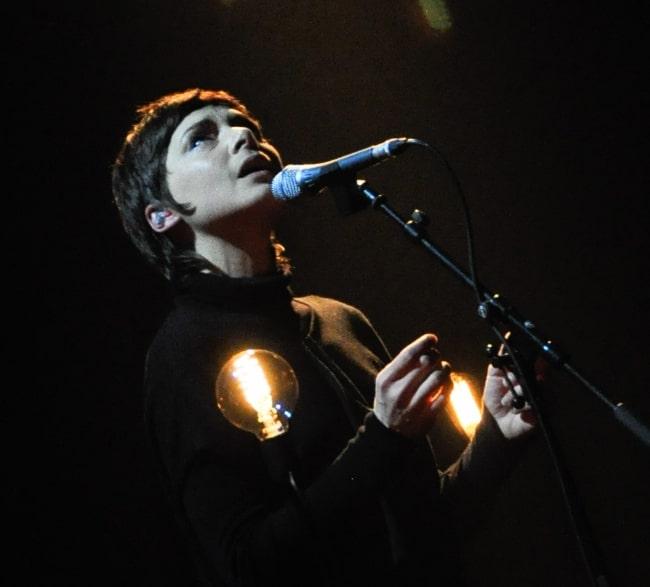 Melanie De Biasio performing at the European Border Breakers Awards Show 2015 in Stadsschouwburg Groningen, Netherlands