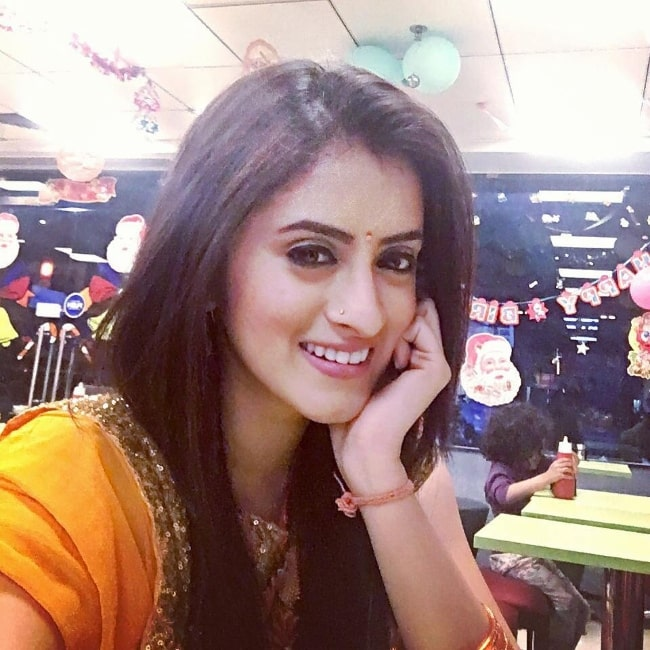 Mihika Verma as seen while taking a selfie in December 2015