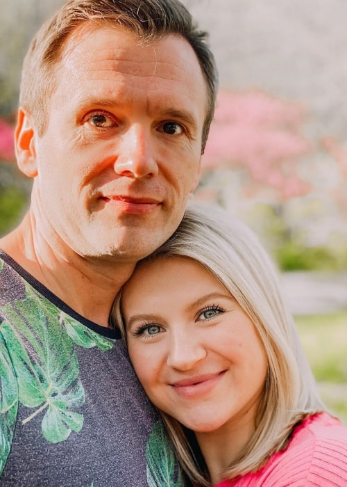 Milana Burykin as seen in a picture taken with her beau Andrey Burykin in March 2020