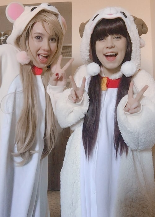 Nyannyancosplay as seen in a picture taken with her friend Erika O'Leary in March 2018