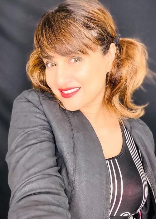 Pakkhi Hegde as seen in a selfie that was taken in April 2020
