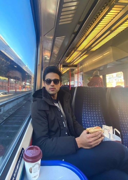 Parth Samthaan as seen while posing for a picture at Marylebone Station in London, England in February 2020