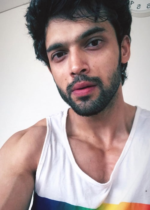 Parth Samthaan as seen while taking a selfie in Mumbai, Maharashtra in March 2020