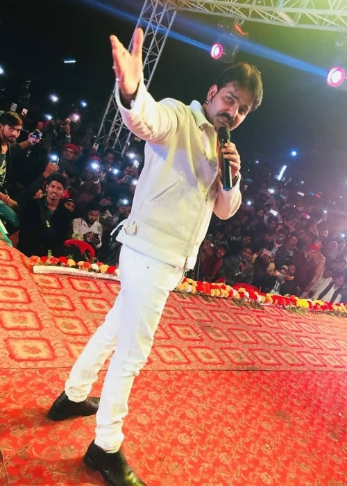 Pawan Singh as seen in a picture taken during a performance of his in the past