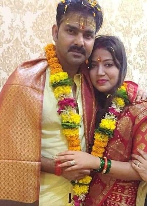 Pawan Singh as seen in a picture taken with his wife Jyoti Singh in the past