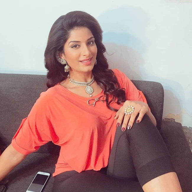 Poonam Dubey as seen in a picture that was taken in July 2020