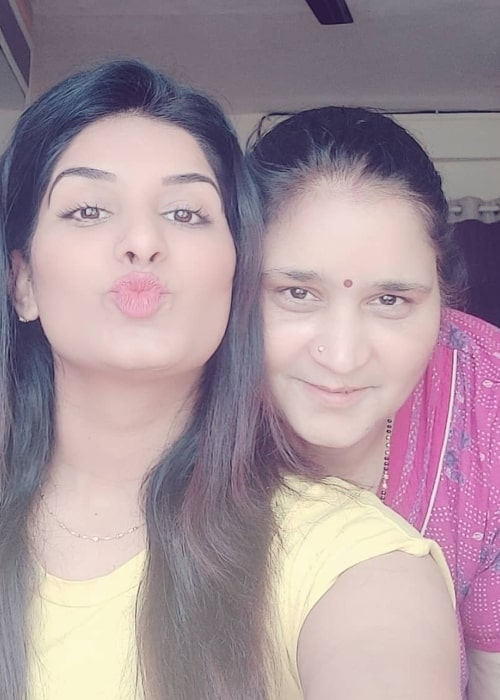 Poonam Dubey as seen in a selfie with her mother that was taken in June 2020