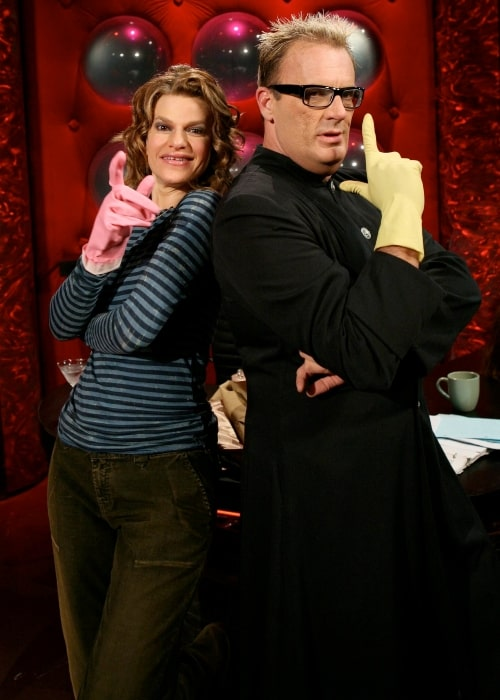 Sandra Bernhard as seen in a picture that was taken with American talk show host Jack E. Jett on February 1, 2006
