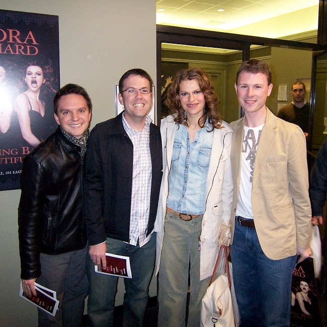 Sandra Bernhard as seen in a picture that was taken with Jason, Josh, and Scott at the Daryl Roth Theatre New York on April 6, 2006