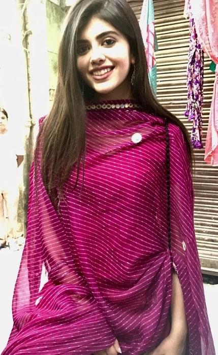 Sanjana Sanghi as seen at the film shoot of Hindi Medium in April 2017