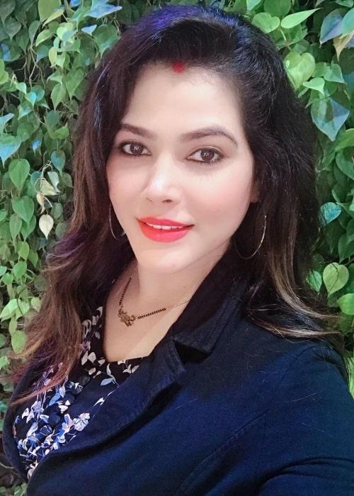 Seema Singh as seen in a selfie that was taken in July 2020