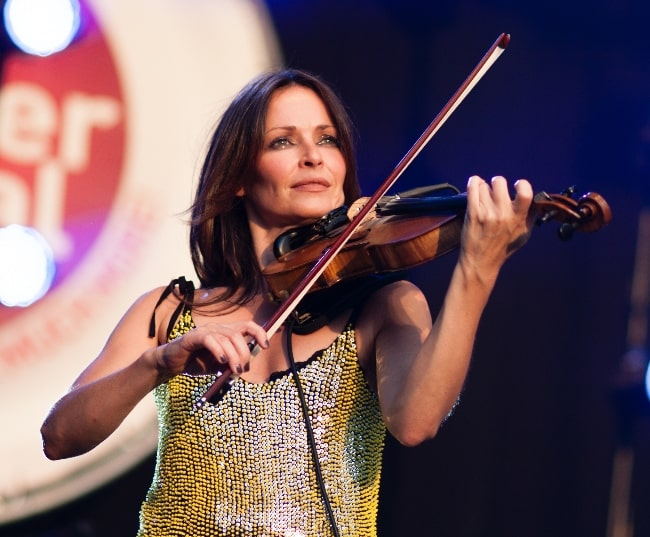 Sharon Corr as seen while performing at the 2012 Brussels Summer Festival
