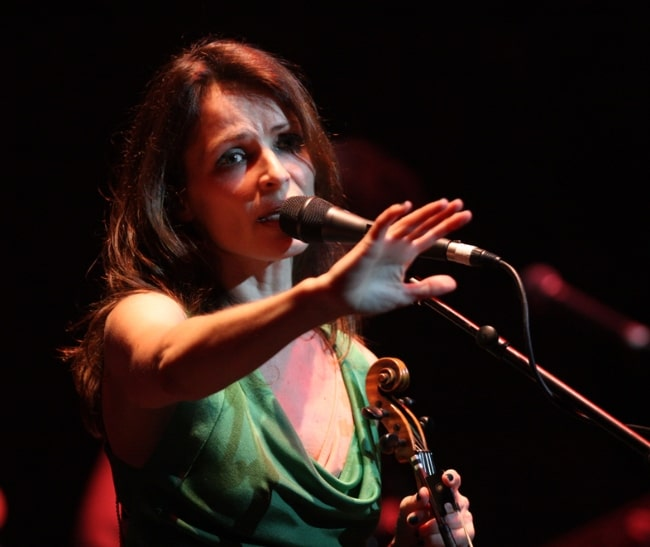 Sharon Corr at the State Theatre located in Sydney, Australia in January 2012