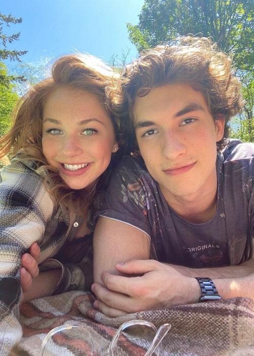 Shelby Bain as seen in a selfie taken with her beau Josh Bogert in June 2020