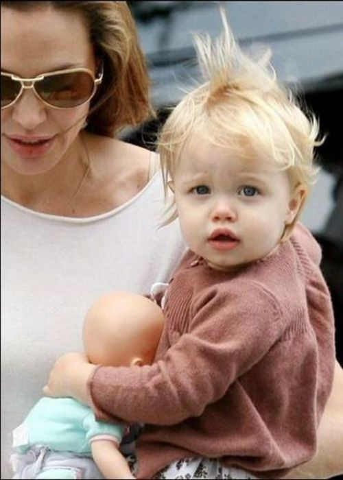 Shiloh Jolie-Pitt seen as a baby